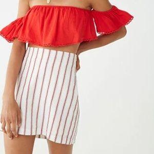 Dresses & Skirts - Linen-blend striped skirt